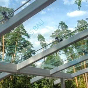 Cветопрозрачные конструкции: навесы из стекла